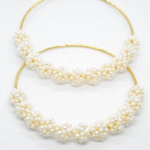 Pearls Hoop Earrings