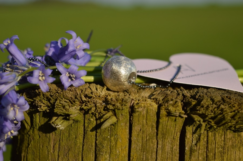 silver ball, flowers