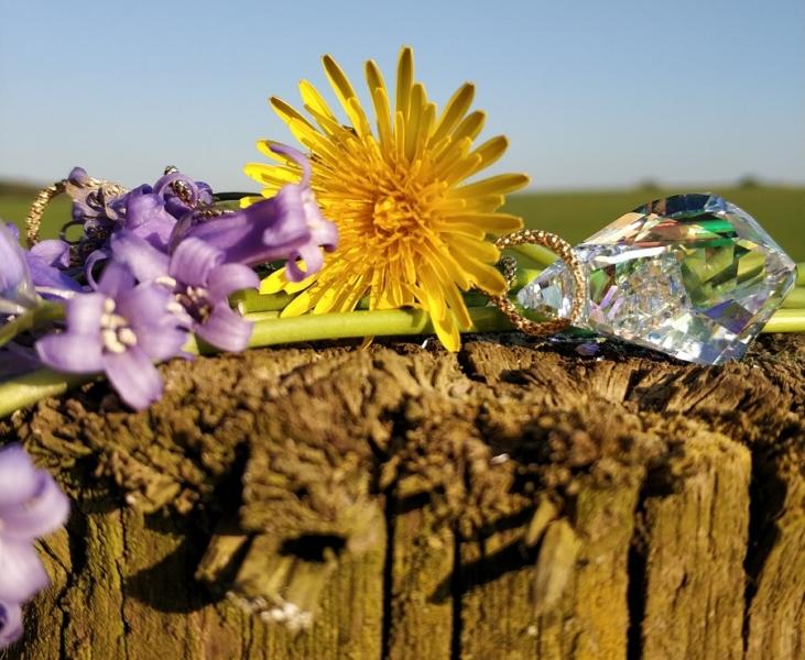 swarovski, flowers