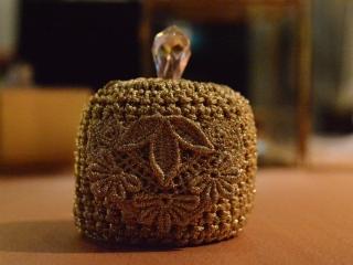 swarovski, lace, gold, headpiece