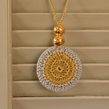 Alexandra Velentza 187 Chic Crochet Necklace Gold