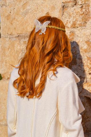 πεταλούδα χρυσό αξεσουάρ μαλλιών γυναίκα