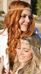 woman bride swarovski hair accessory