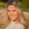 bride woman wreath hair accessory