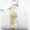 pearls gold chain necklace