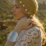 gold leather bracelet woman