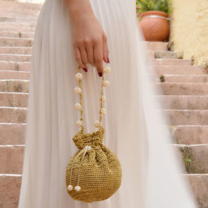 gold pouch pearls