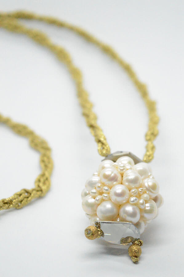 pearls gold swarovski