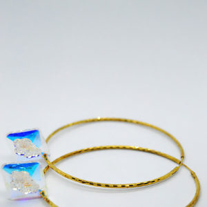 Swarovski Gold Hoop Earrings