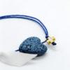 μπλε καρδιά βραχιόλι μαρτυρικά λευκη κορδέλα χρυσό