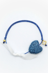 blue heart gold cross bracelet