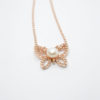 Butterfly Necklace rose chain pearl