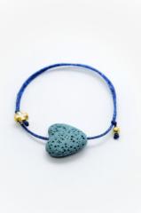 μπλε καρδιά βραχιόλι μαρτυρικά χρυσό