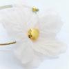 pink flower gold cross bracelet
