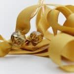 swarovski gold ribbon