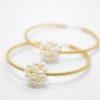 Pearls hoop Earrings gold
