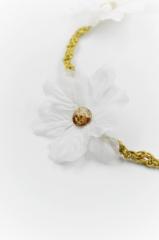 λουλούδι swarovski λευκο χρυσό στεφανάκι