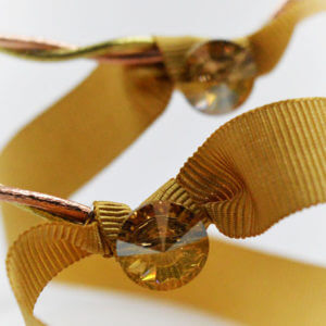 swarovski gold ribbon