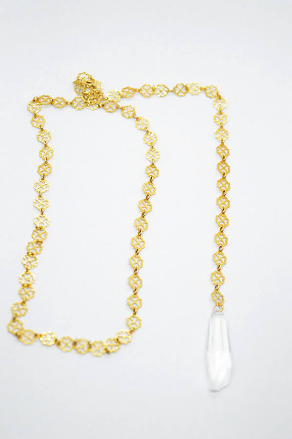 gold lace necklace chain swarovski