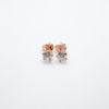 zircon earrings gold rose silver