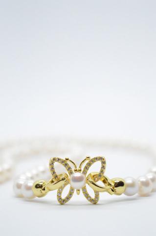Κολιέ Πεταλούδα με Μαργαριτάρια