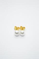 Πέρλες χρυσό σκουλαρίκι