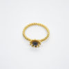 flower daisy gold ring