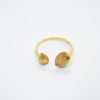 shell gold ring