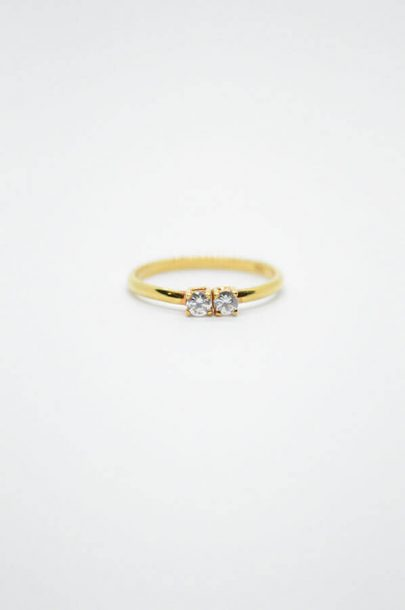 ζιργκόν χρυσό δαχτυλίδι