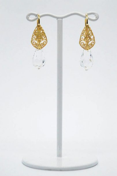 Swarovski Drop Earrings gold