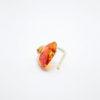 swarovski hearts orange gold earrings