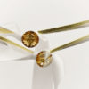 swarovski gold silver white ribbon