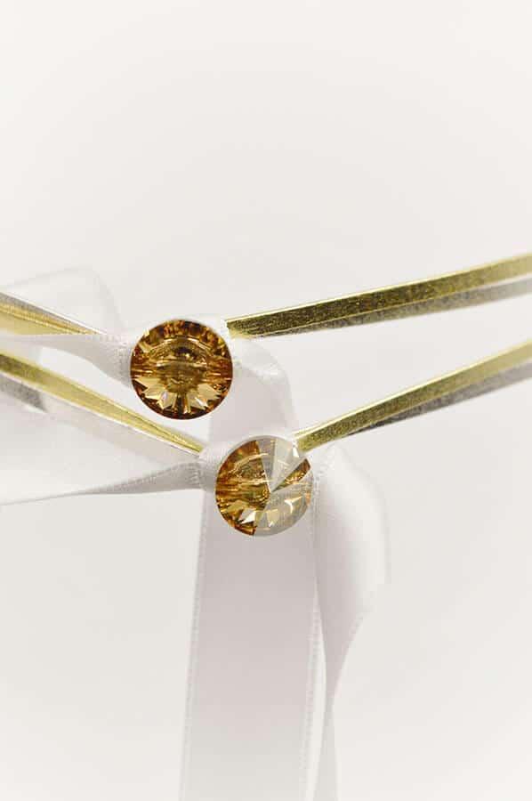 swarovski χρυσά ασημένια στέφανα