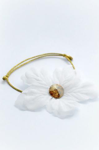 swarovski χρυσό βραχιολι λουλουδια