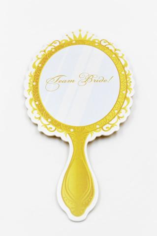 χρυσός καθρέπτης πρόσκληση