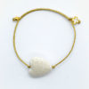 white heart gold bracelet cross