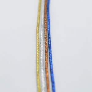 blue silver gold bronze yarns