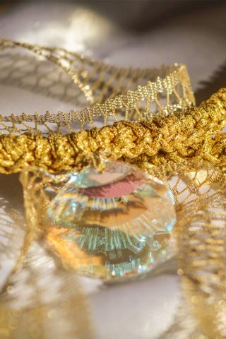 χρυσό νήμα κρύσταλλο swarovski κοχύλι