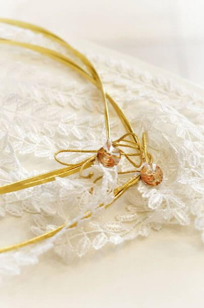 gold wedding crowns white lace gold swarovski