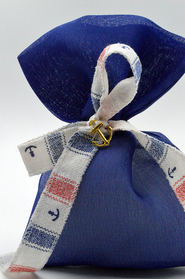 blue favor navy pouch