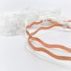wedding crowns white lace rose gold wavy