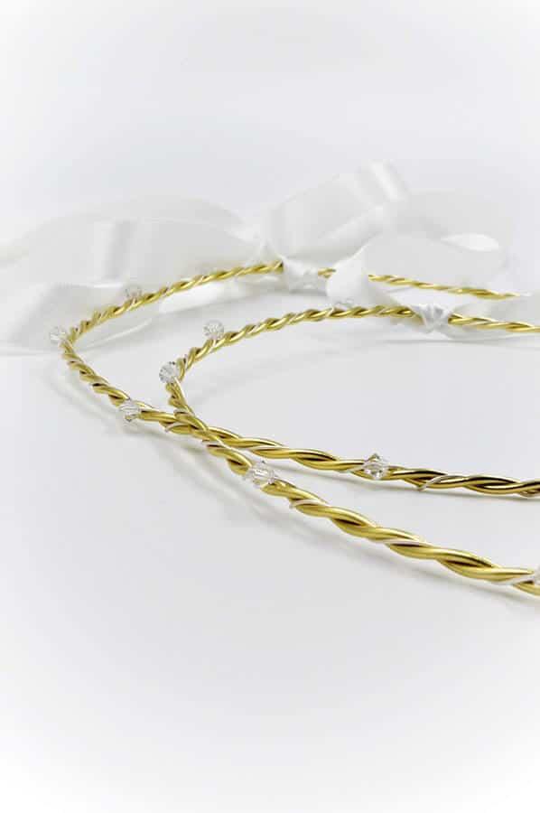κρυσταλλα χρυσο ασημι λευκο κορδελα