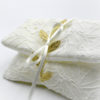 white lace envelope gold leaves