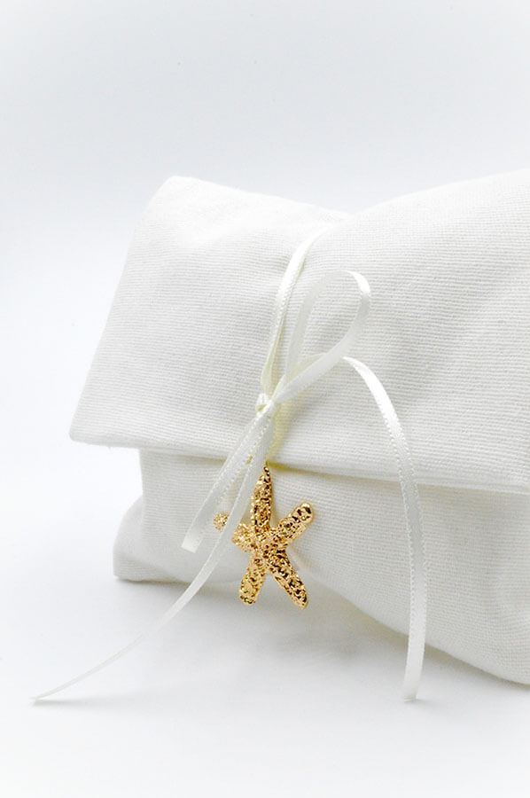 white envelope golden star