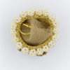 case gold pearls rings