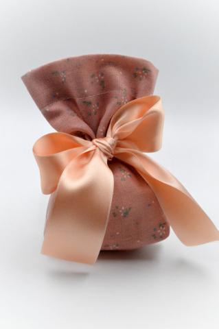 ροζ πουγκι σατεν φιογκος λουλουδια