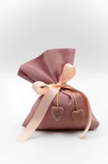 ροζ πουγκί ροζ φιόγκος καρδιές