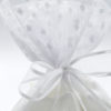 white pouch polka dot tulle