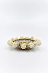 μαργαριτάρια δαχτυλίδι πλεκτό