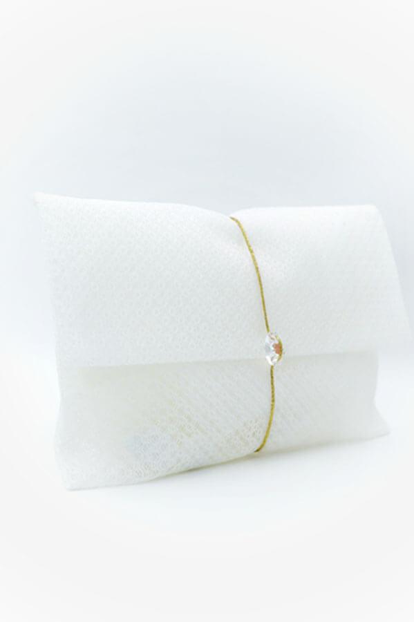 white envelope swarovski